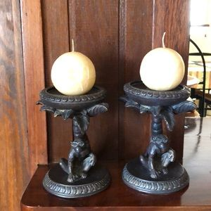 None Accents - CUTE 🌺MONKEY CANDELABRA 🌺SET OF TWO NEW🌺
